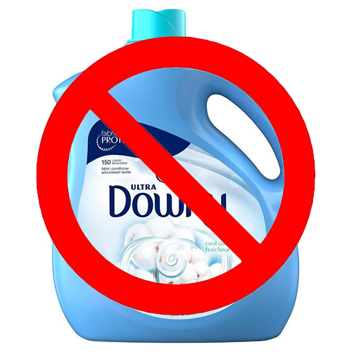 Drier sheets or fabric softener will coat your towels making them less absorbent
