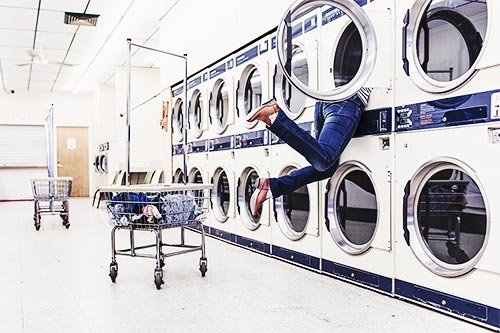 Laundromat's typically have larger washers & driers