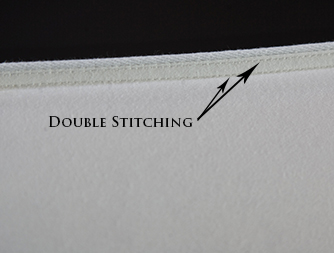 Double stitching adds durability to your sleeping pillows & down comforters
