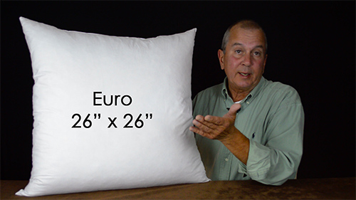 Euro shams are a great way to add dimension to the bed