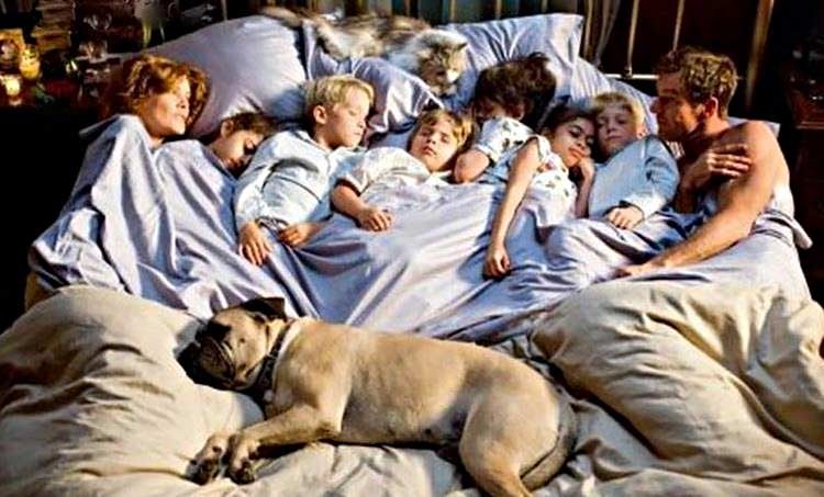 Children & pets in bed with you can disrupt your sleeping