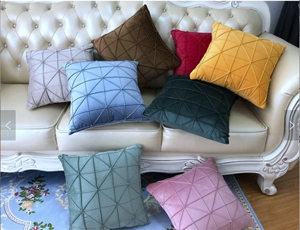 Decorative pillows can change the entire look of a bed