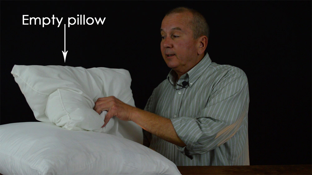 Goose Down Sleeping Pillow